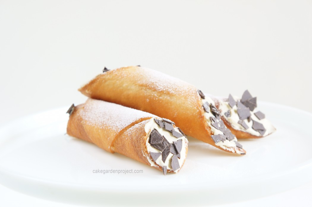 cannoli di pancarrè al pistacchio