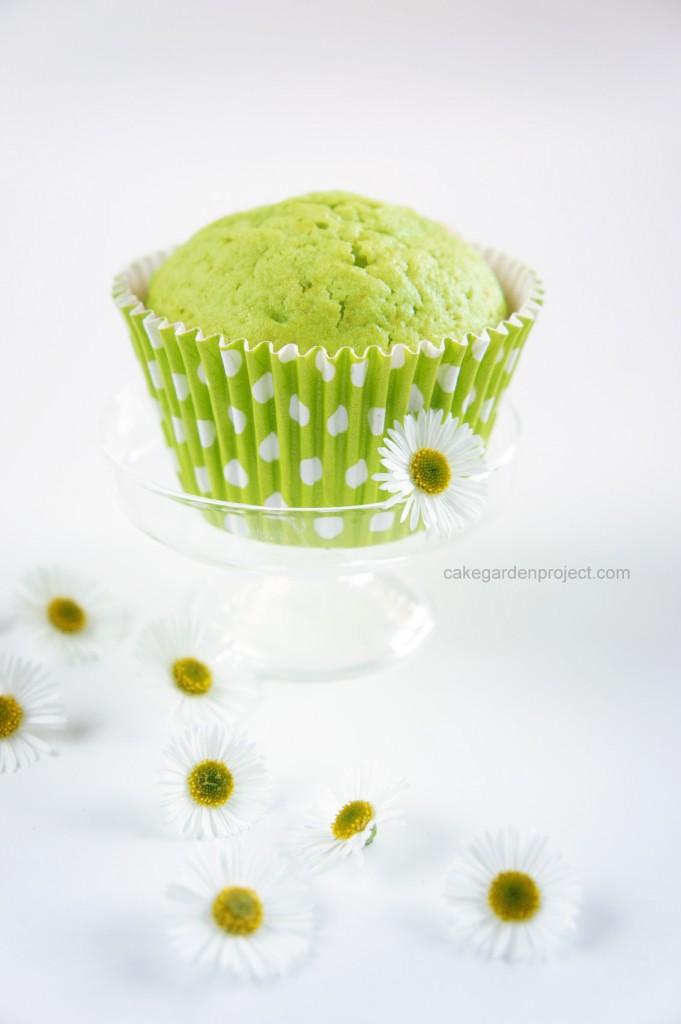 muffin al tè matcha