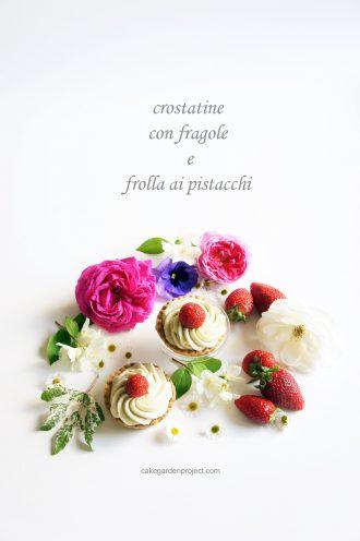 crostatina di fragole con frolla al pistacchio