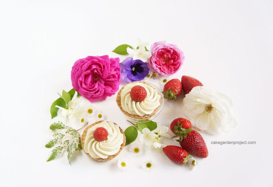 crostatina di fragole con frolla ai pistacchi