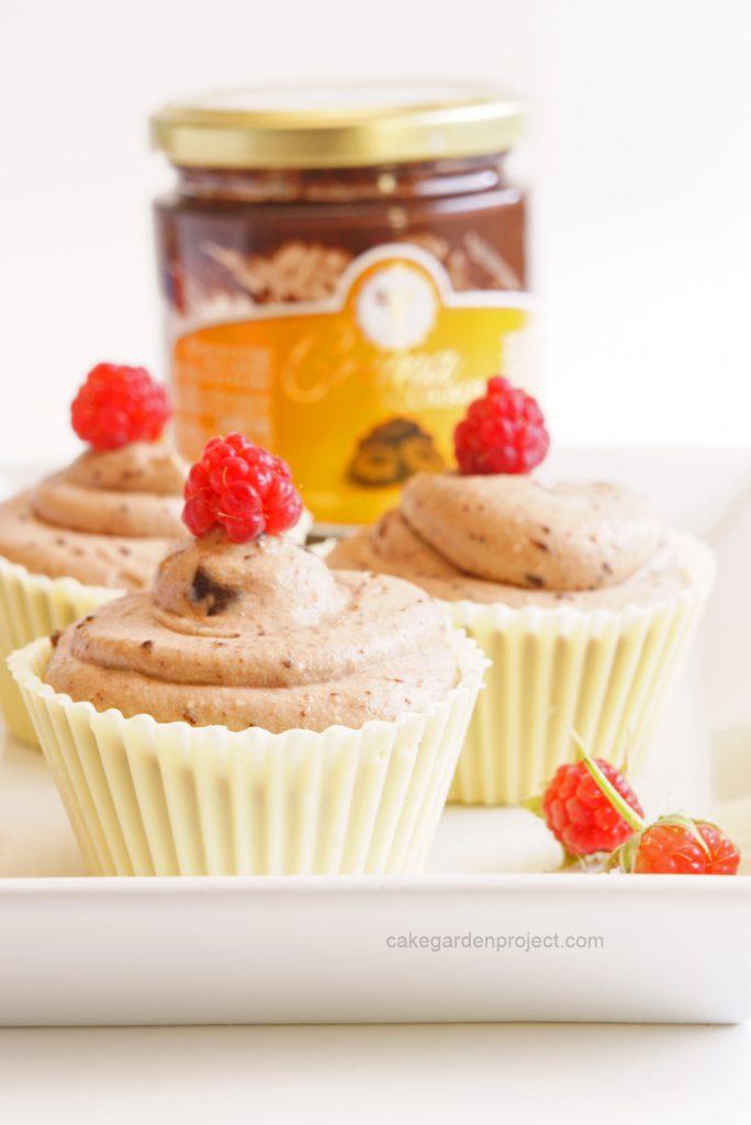 cupcake di semifreddo di ricotta e crema biscokrok
