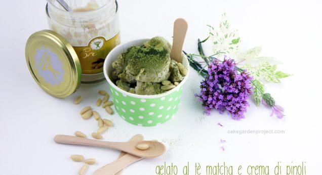 gelato pinoli e te matcha