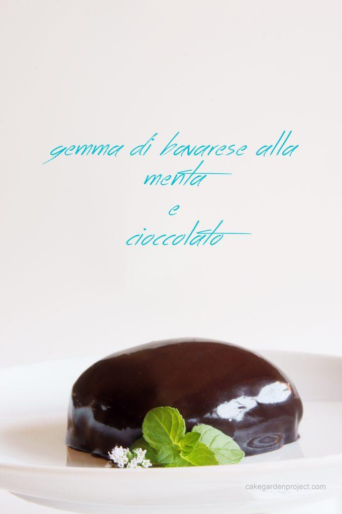 gemma di bavarese alla menta con glassa di cioccolato