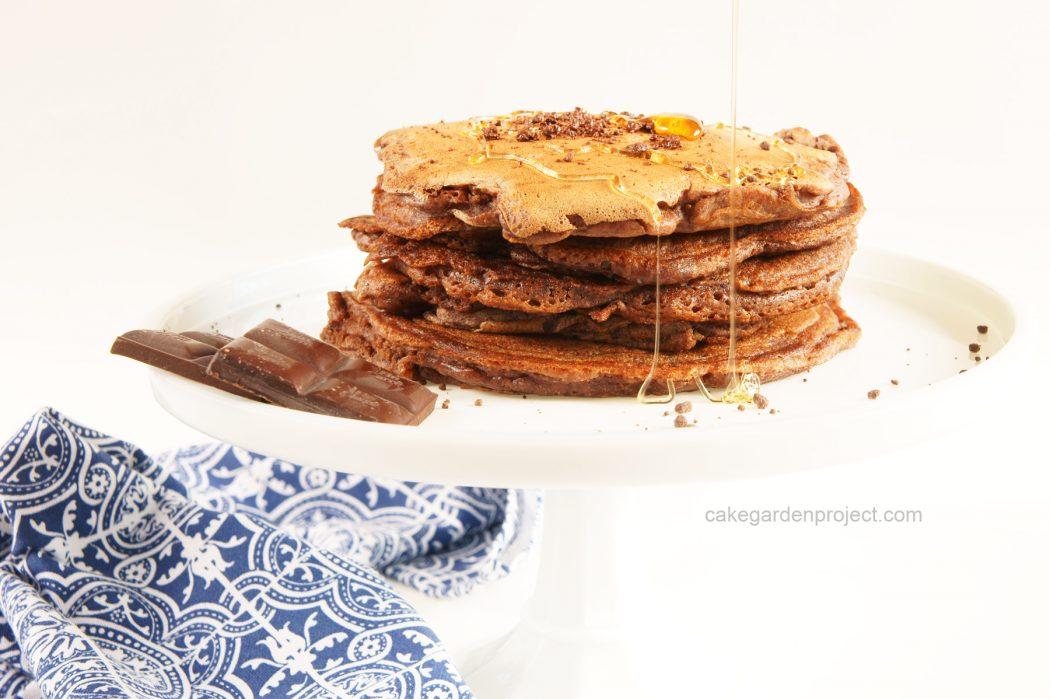 pancake al farro e cioccolata