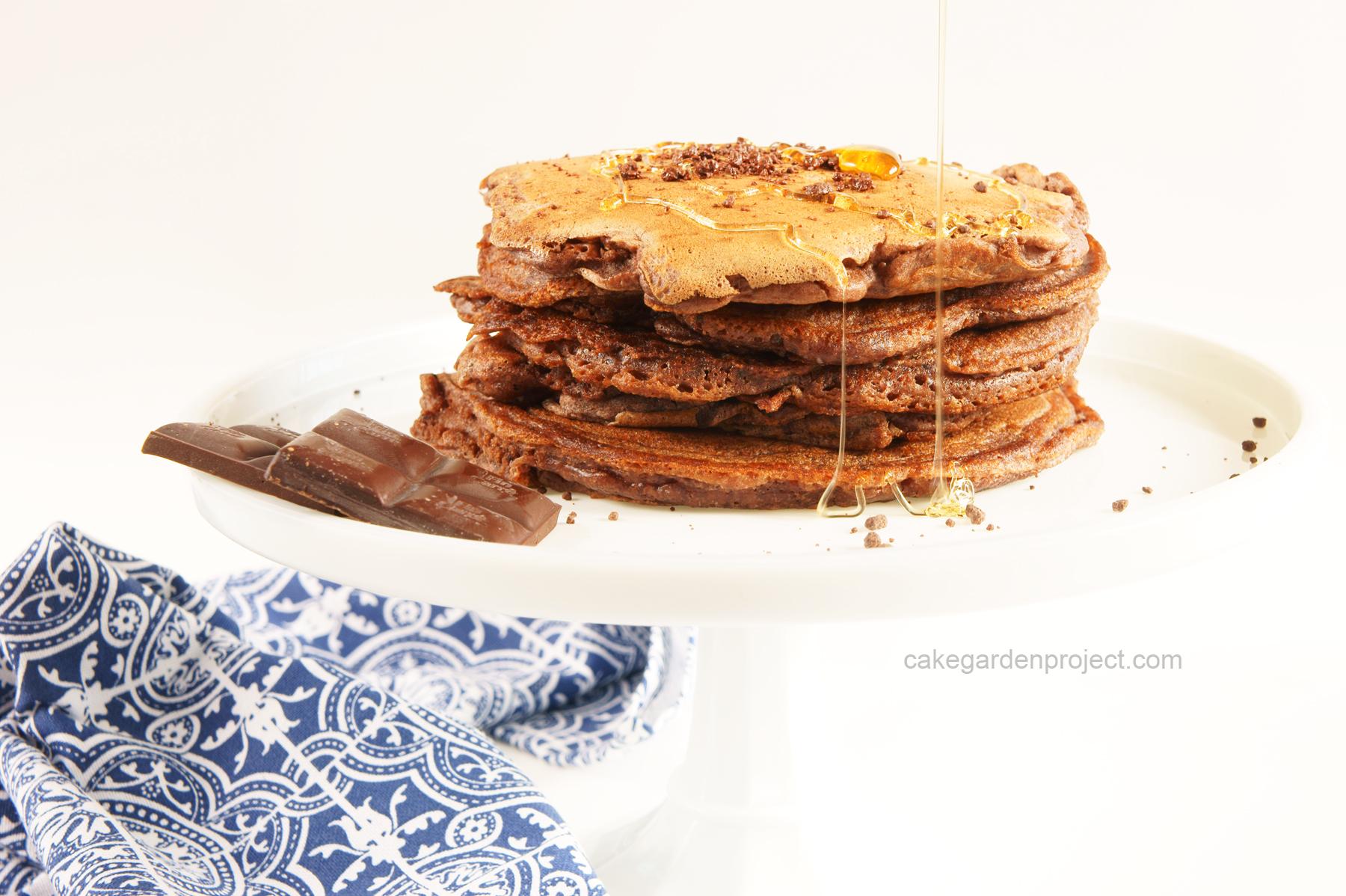 pancake al farro e cioccolato