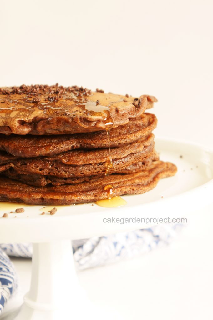 pancake al farro e cioccolatoo