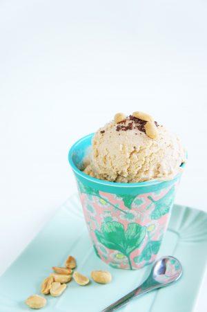 gelato al burro di arachidi