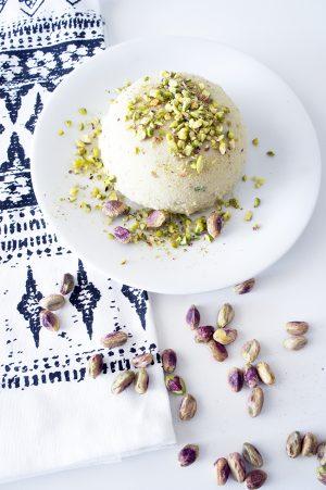 gelato al pistacchio e sable di caffè